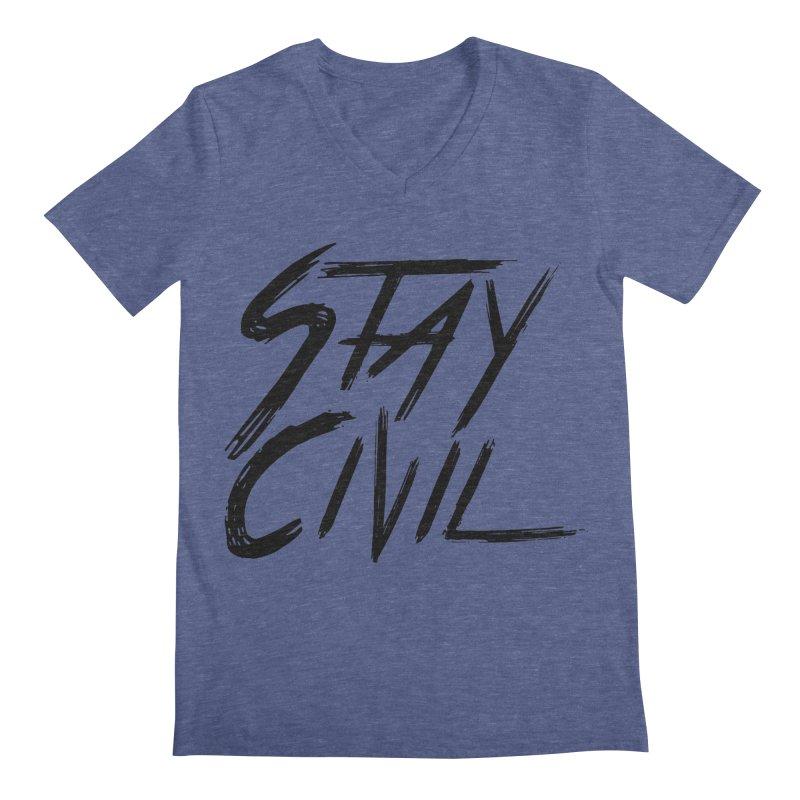 """Stay Civil"" Men's V-Neck by Civil Wear Clothing"