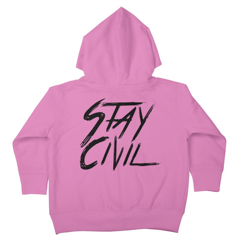 """""""Stay Civil"""" Kids Toddler Zip-Up Hoody by Civil Wear Clothing"""