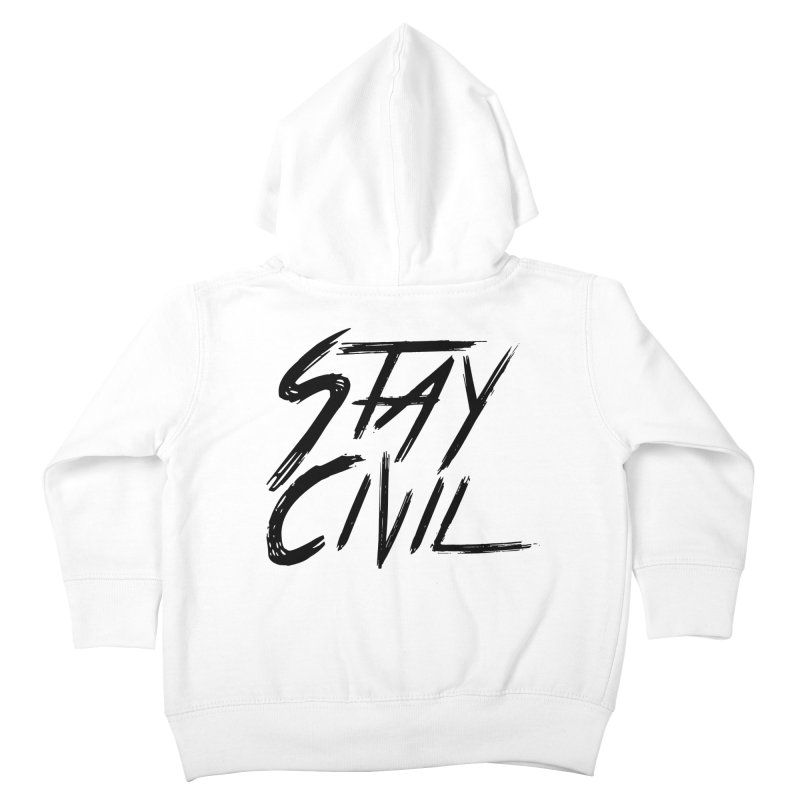 """Stay Civil"" Kids Toddler Zip-Up Hoody by Civil Wear Clothing"