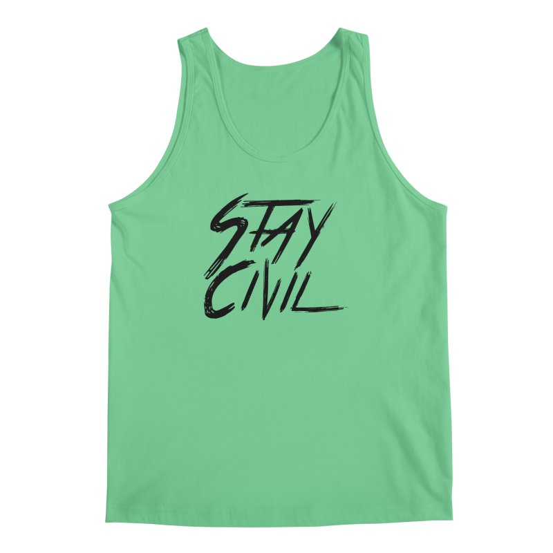 """Stay Civil"" Men's Tank by Civil Wear Clothing"