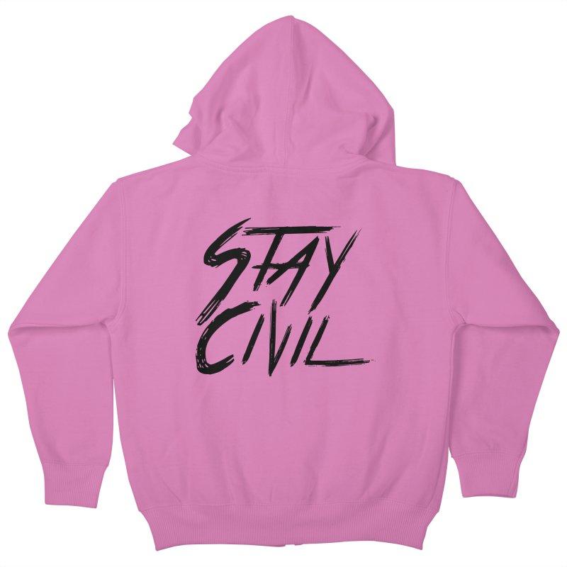 """Stay Civil"" Kids Zip-Up Hoody by Civil Wear Clothing"