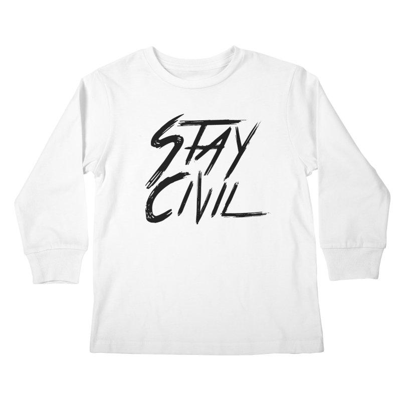 """Stay Civil"" Kids Longsleeve T-Shirt by Civil Wear Clothing"