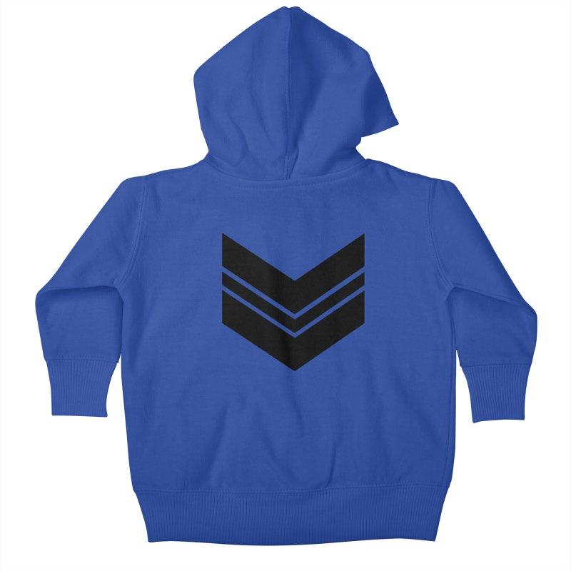 Civil Wear Logo Tee Kids Baby Zip-Up Hoody by Civil Wear Clothing