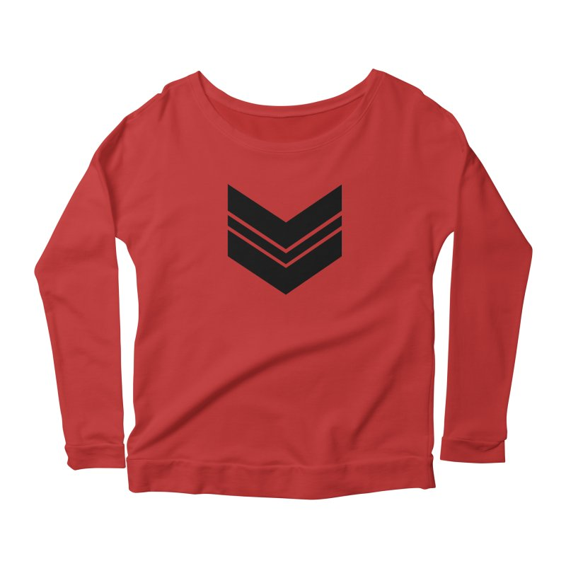 Civil Wear Logo Tee Women's Longsleeve Scoopneck  by Civil Wear Clothing