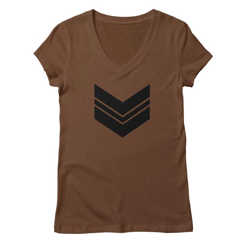 Civil Wear Logo Tee Women's V-Neck by Civil Wear Clothing