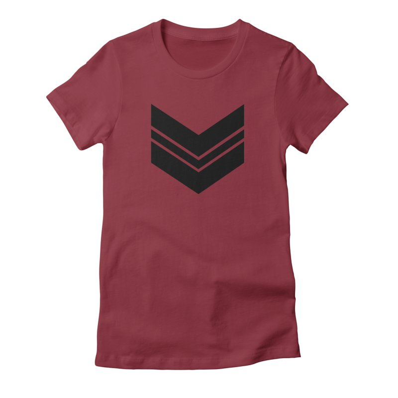 Civil Wear Logo Tee Women's Fitted T-Shirt by Civil Wear Clothing