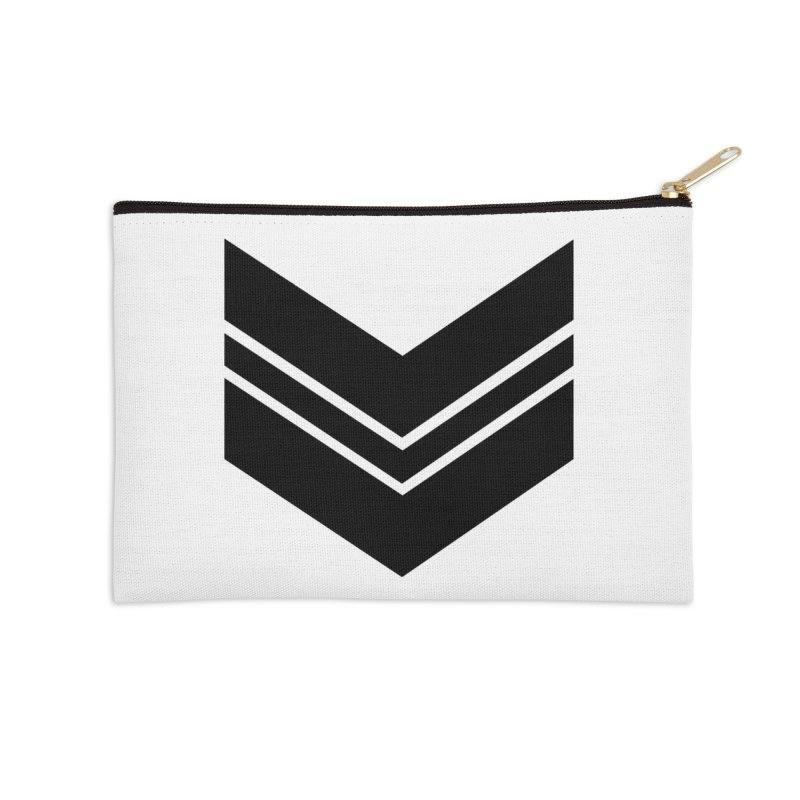 Civil Wear Logo Tee Accessories Zip Pouch by Civil Wear Clothing