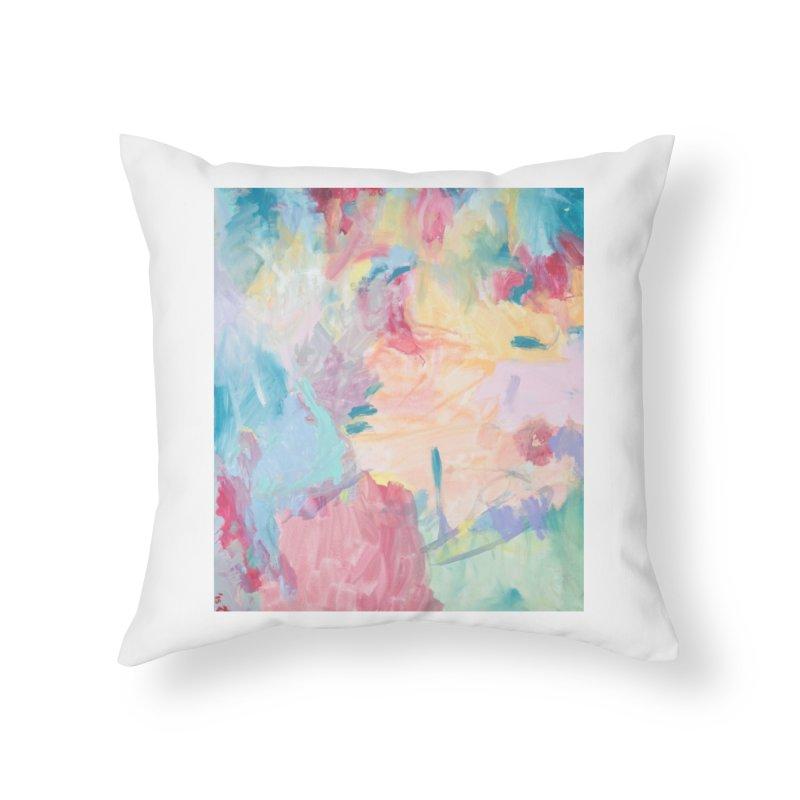 Sweet Pea Up in Heaven Home Throw Pillow by St Baldricks's Artist Shop