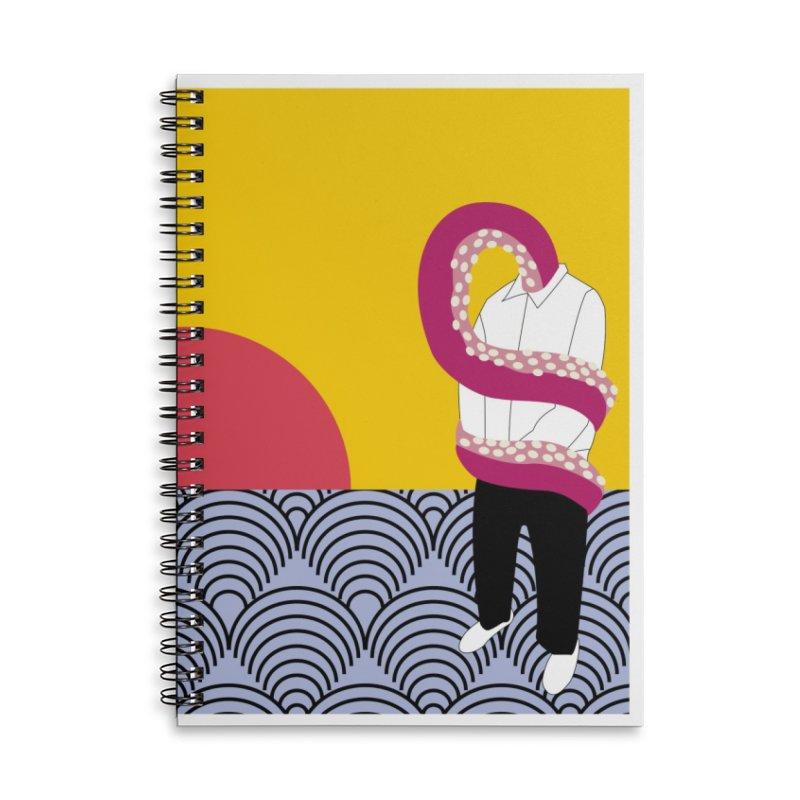 Can't Drown Accessories Lined Spiral Notebook by St Baldricks's Artist Shop