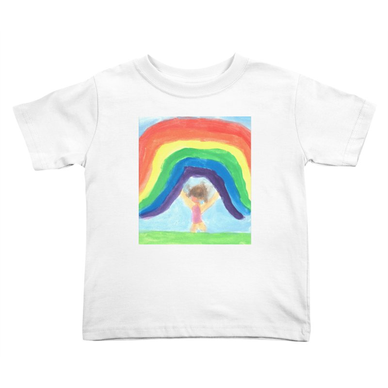 Rainbow Kids Toddler T-Shirt by St Baldricks's Artist Shop