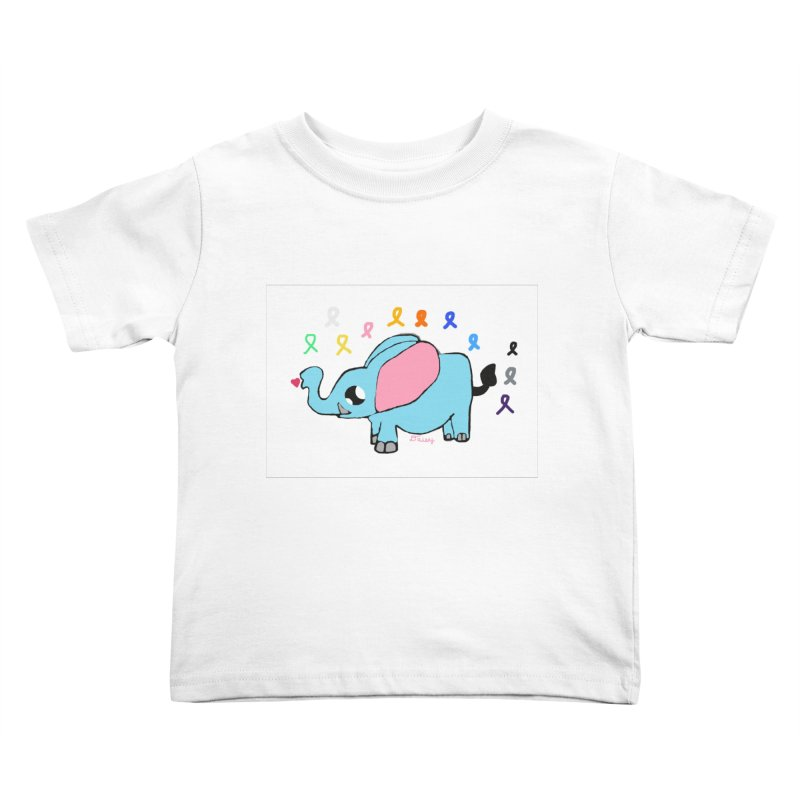 Elephant Kids Toddler T-Shirt by St Baldricks's Artist Shop