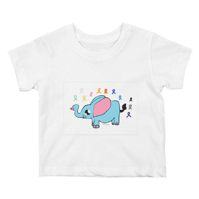 Elephant Kids Baby T-Shirt by St Baldricks's Artist Shop