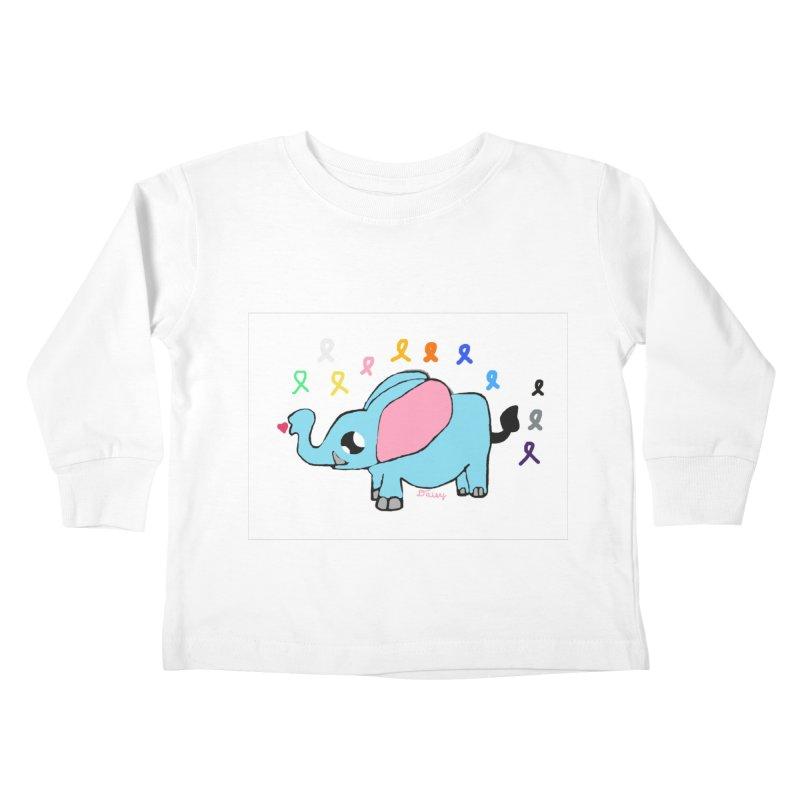 Elephant Kids Toddler Longsleeve T-Shirt by St Baldricks's Artist Shop