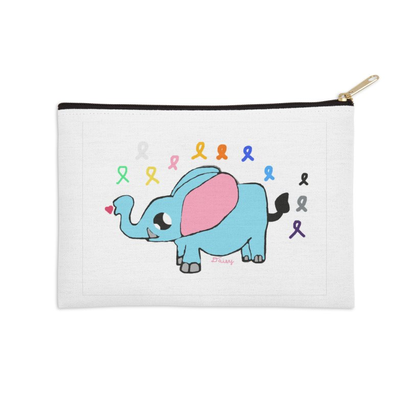 Elephant Accessories Zip Pouch by St Baldricks's Artist Shop