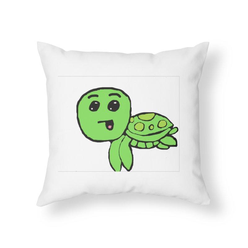 Turtle Home Throw Pillow by St Baldricks's Artist Shop