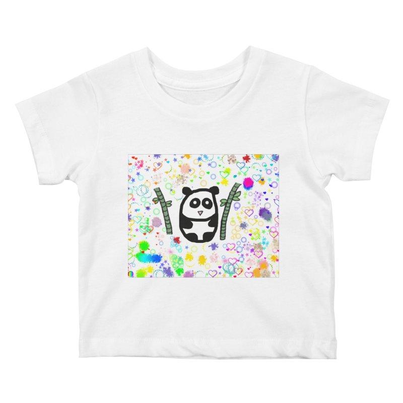 Panda Kids Baby T-Shirt by St Baldricks's Artist Shop
