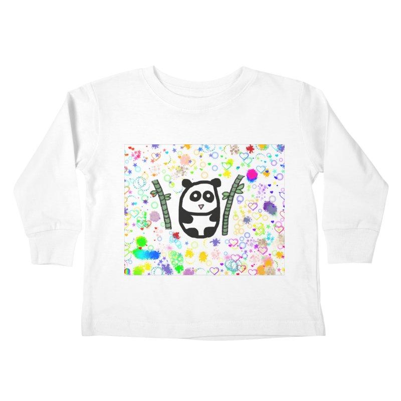 Panda Kids Toddler Longsleeve T-Shirt by St Baldricks's Artist Shop