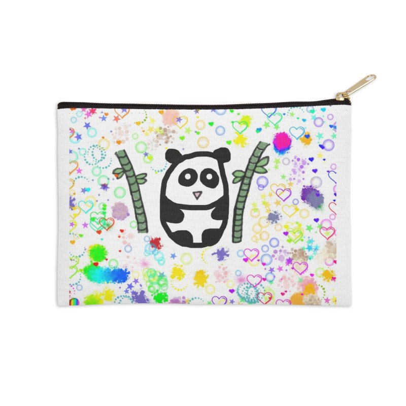 Panda Accessories Zip Pouch by St Baldricks's Artist Shop