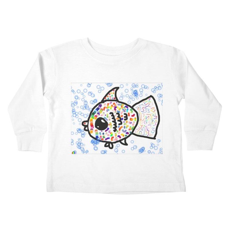 Fish Kids Toddler Longsleeve T-Shirt by St Baldricks's Artist Shop