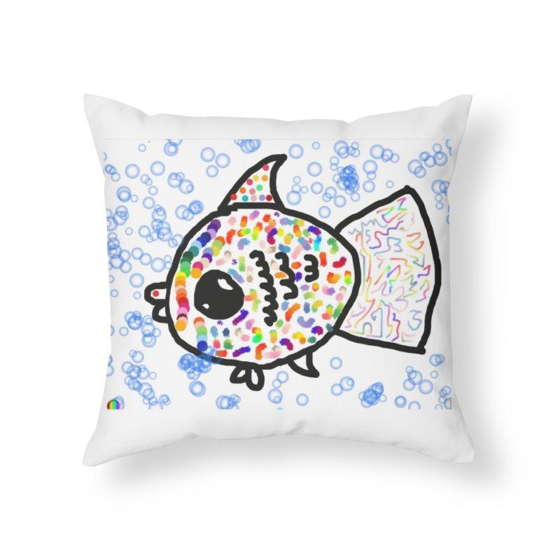 Fish Home Throw Pillow by St Baldricks's Artist Shop