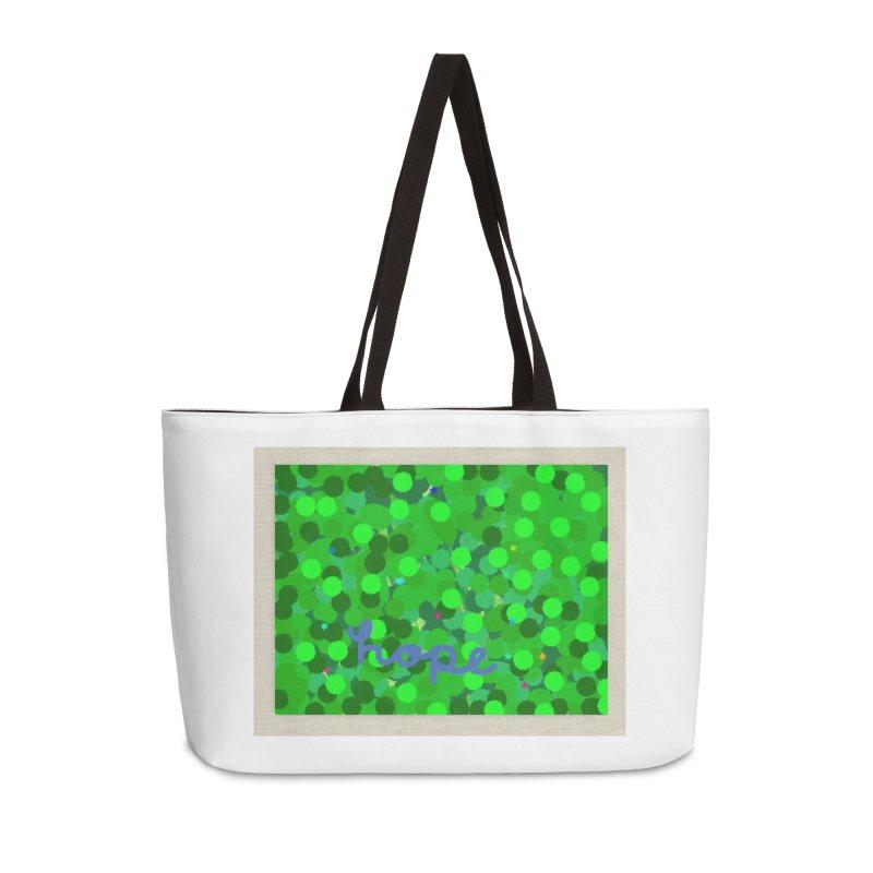 Hope Cursive Accessories Weekender Bag Bag by St Baldricks's Artist Shop