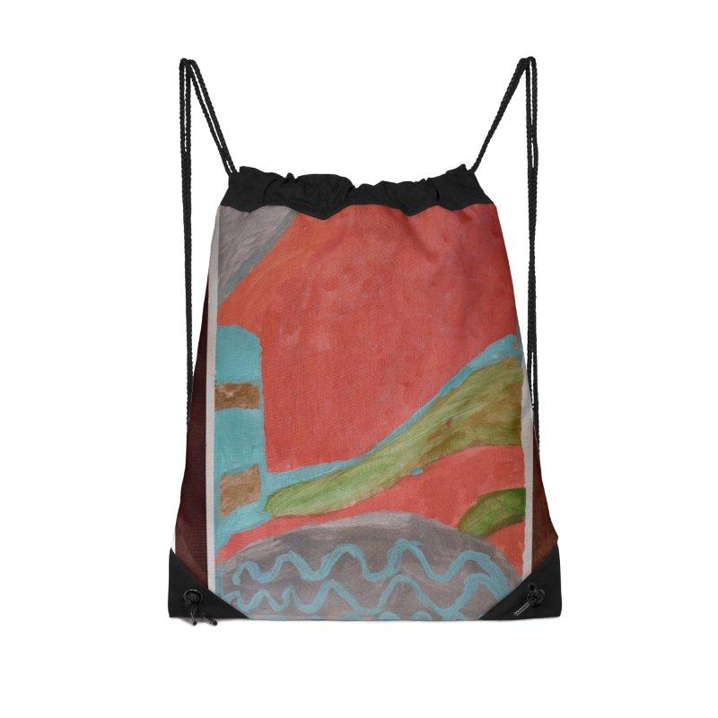 Complementary Quadrant Accessories Drawstring Bag Bag by St Baldricks's Artist Shop
