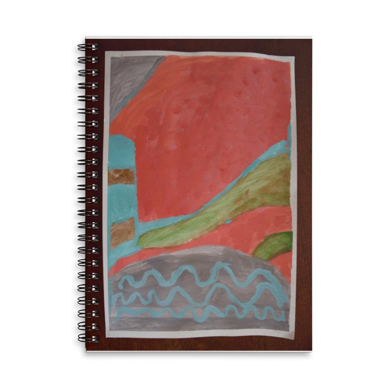 Complementary Quadrant Accessories Lined Spiral Notebook by St Baldricks's Artist Shop