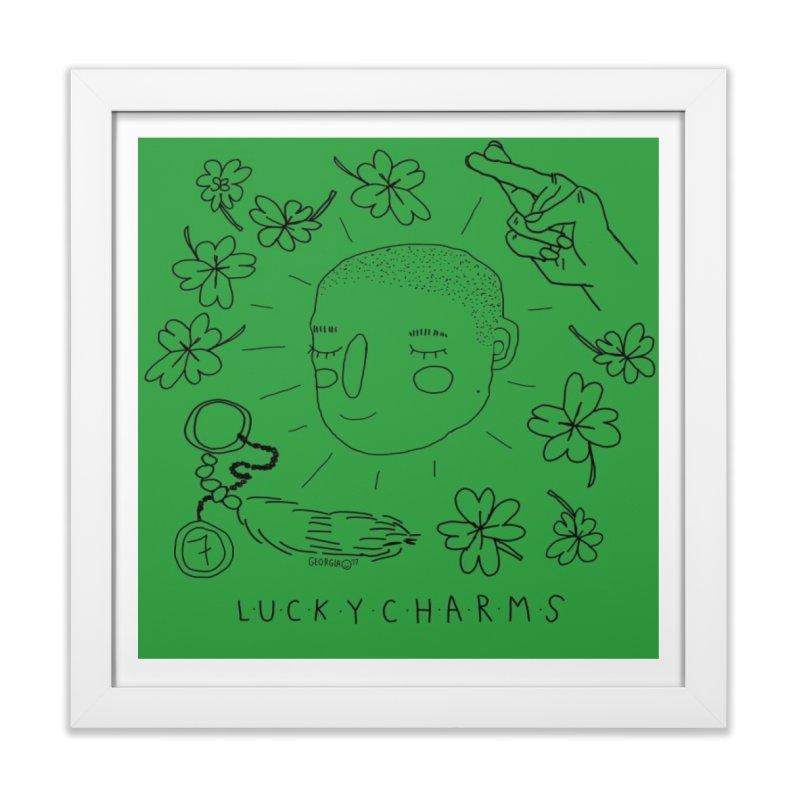 Green Lucky Charms Home Framed Fine Art Print by St Baldricks's Artist Shop