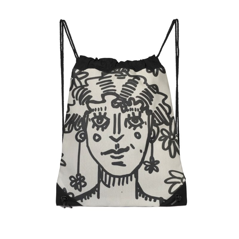 Flower Girl Accessories Drawstring Bag Bag by St Baldricks's Artist Shop