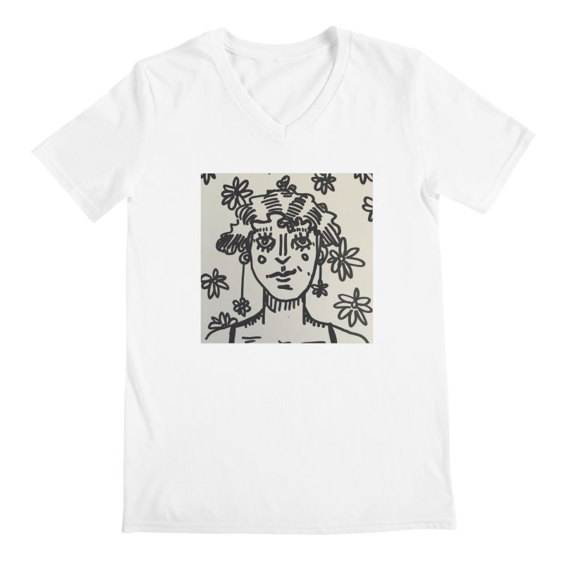 Flower Girl Men's Regular V-Neck by St Baldricks's Artist Shop