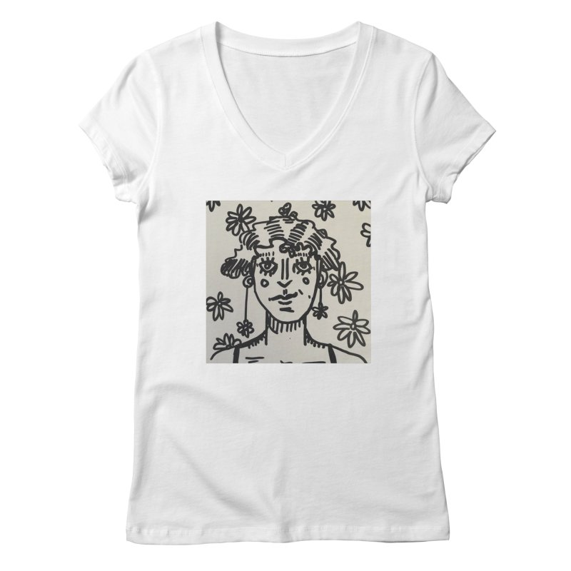 Flower Girl Women's Regular V-Neck by St Baldricks's Artist Shop