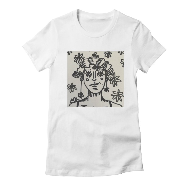 Flower Girl Women's Fitted T-Shirt by St Baldricks's Artist Shop