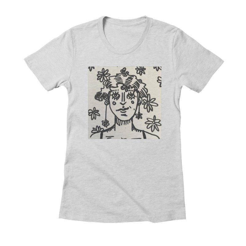 Flower Girl Women's Fitted T-Shirt by St Baldricks's Artist Shop