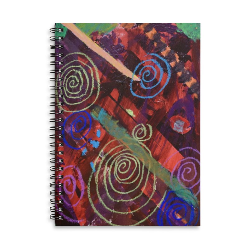 Galaxy Accessories Lined Spiral Notebook by St Baldricks's Artist Shop