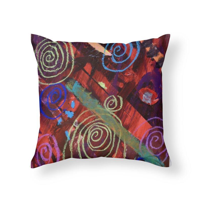Galaxy Home Throw Pillow by St Baldricks's Artist Shop