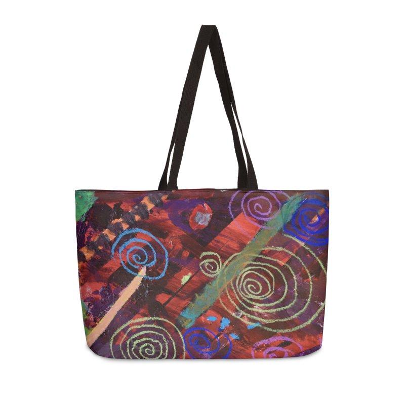 Galaxy Accessories Weekender Bag Bag by St Baldricks's Artist Shop