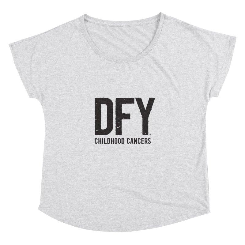 DFY Childhood Cancers Women's Dolman Scoop Neck by St Baldricks's Artist Shop