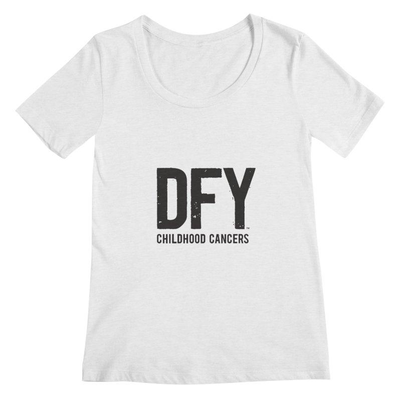 DFY Childhood Cancers Women's Regular Scoop Neck by St Baldricks's Artist Shop
