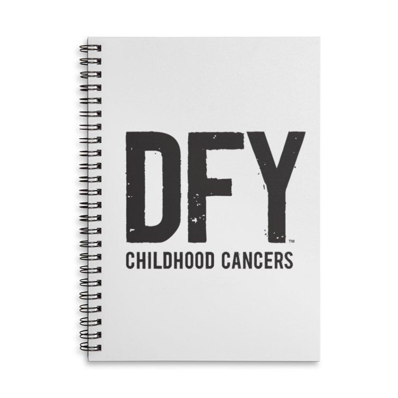 DFY Childhood Cancers Accessories Lined Spiral Notebook by St Baldricks's Artist Shop