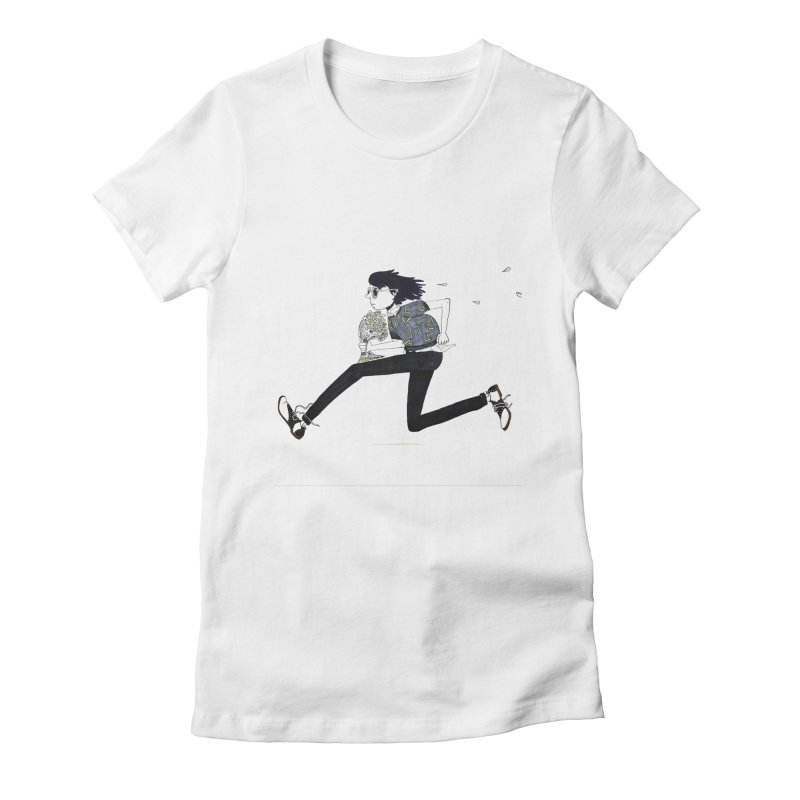 Late Women's Fitted T-Shirt by St Baldricks's Artist Shop