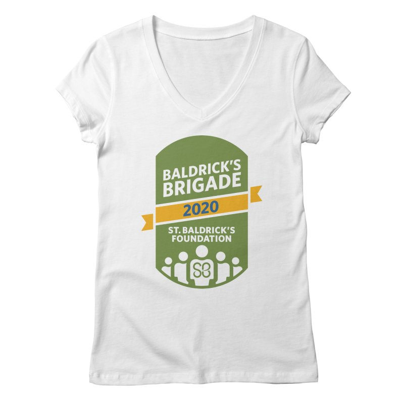 Baldrick's Brigade Women's Regular V-Neck by St Baldricks's Artist Shop