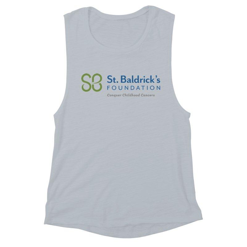 SBF Logo - tagline Women's Muscle Tank by St Baldricks's Artist Shop