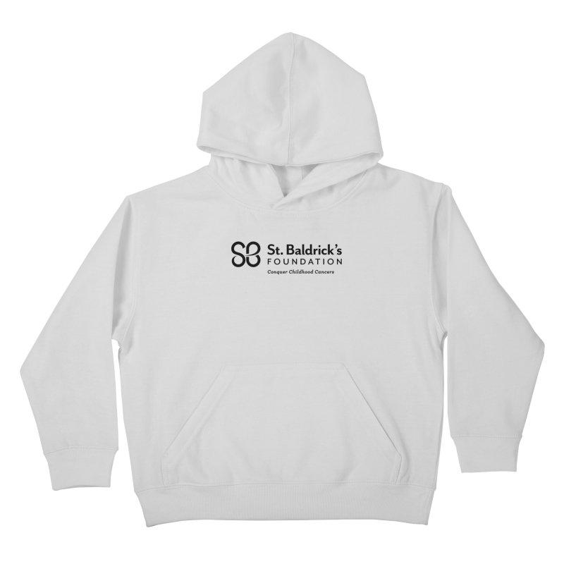 SBF Logo - tagline Black Kids Pullover Hoody by St Baldricks's Artist Shop