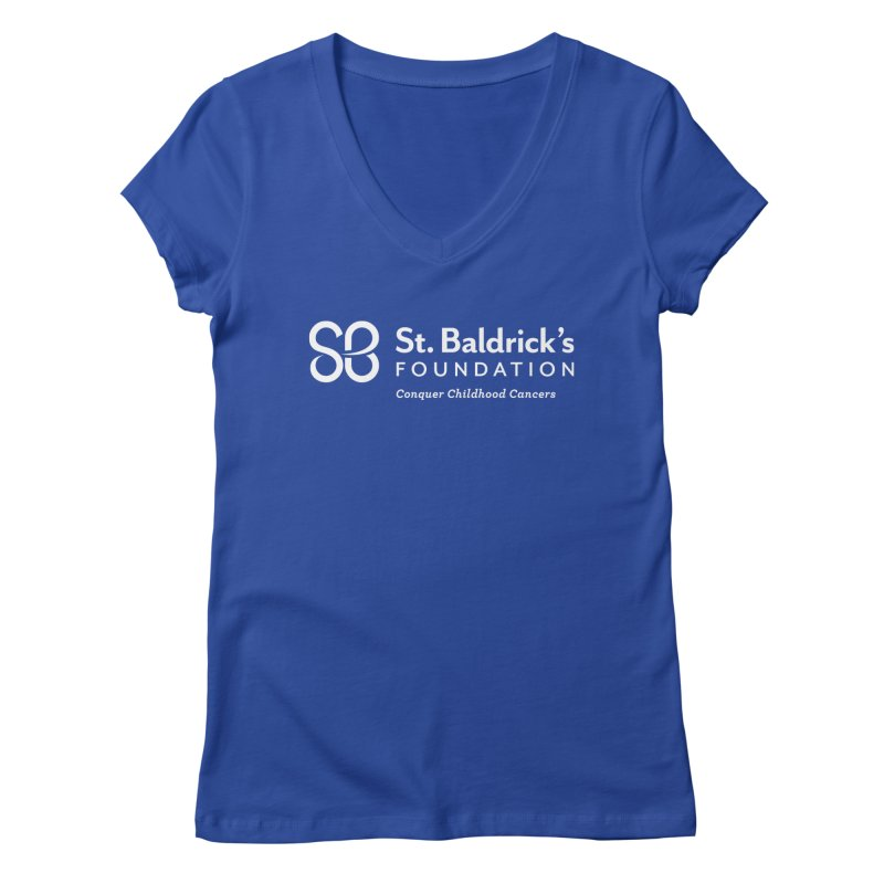 SBF Logo - tagline White Women's Regular V-Neck by St Baldricks's Artist Shop