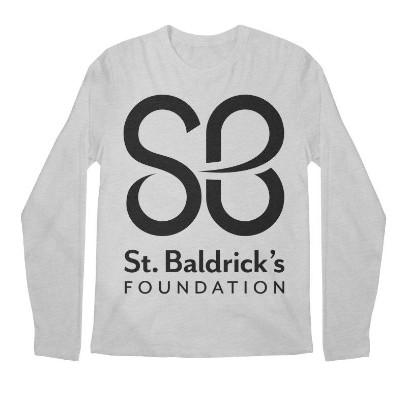 Black Stacked Logo Men's Regular Longsleeve T-Shirt by St Baldricks's Artist Shop