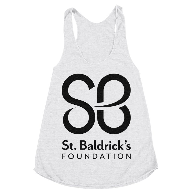 Black Stacked Logo Women's Racerback Triblend Tank by St Baldricks's Artist Shop