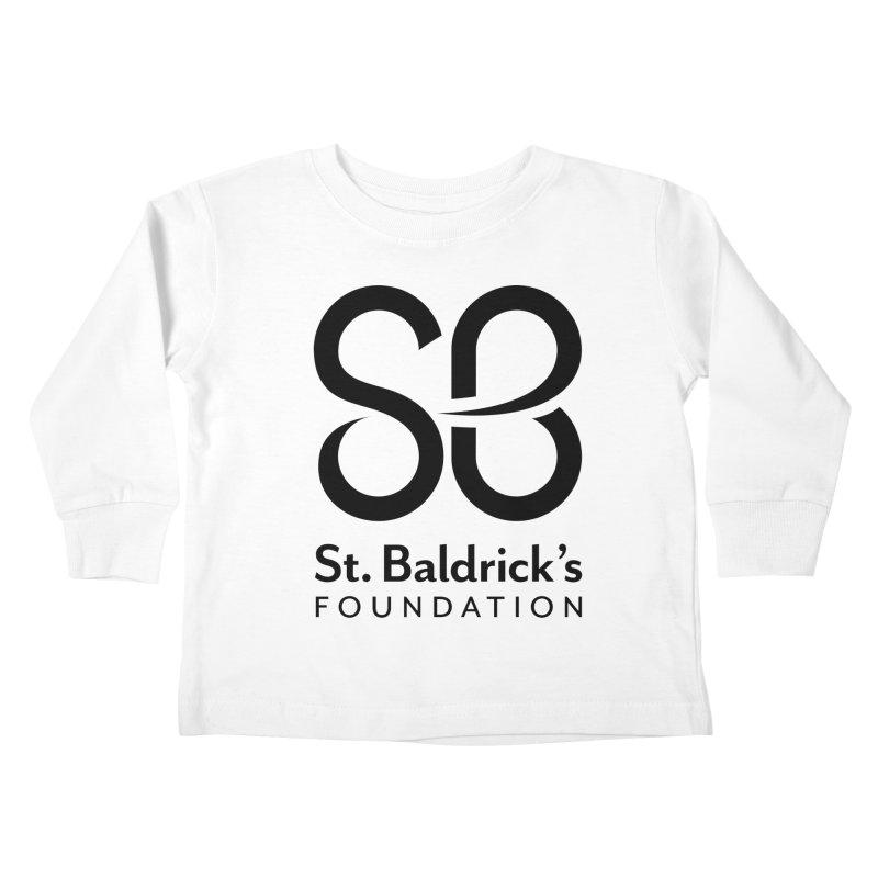 Black Stacked Logo Kids Toddler Longsleeve T-Shirt by St Baldricks's Artist Shop
