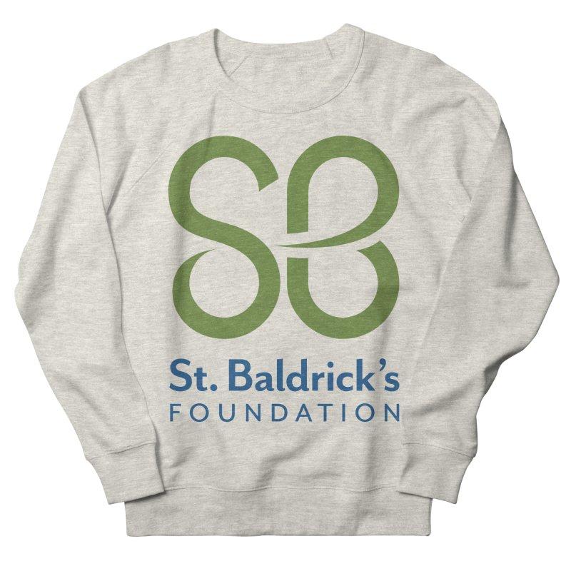 Stacked Logo Women's French Terry Sweatshirt by St Baldricks's Artist Shop