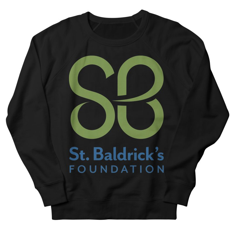 Stacked Logo Men's French Terry Sweatshirt by St Baldricks's Artist Shop