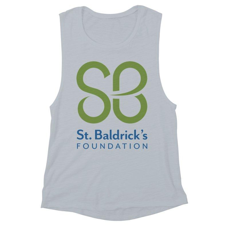 Stacked Logo Women's Muscle Tank by St Baldricks's Artist Shop